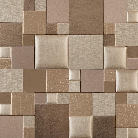 Mosaic essentia champagne twist nappatile faux leather for Faux leather floor tiles