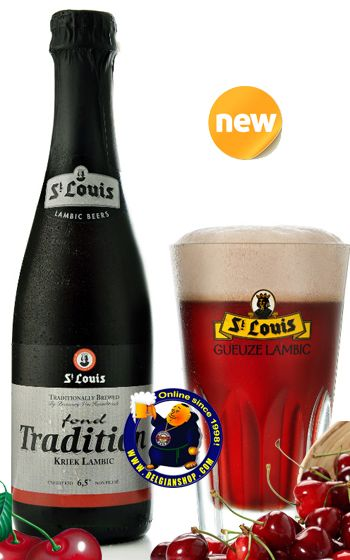 St. Louis Fond Tradition Kriek Lambic 6.5° Available at http://store.belgianshop.com/geuze-lambic-fruits/1588-st-louis-fond-tradition-kriek-lambic-65-375cl.html Pours a deep red that borders on purple witha trace light pink head. Aroma is dark cherries, sour, sweet rose, raspberry tart. Tastes of mildly tart kriek juice with light lactic sourness in the back, touch herbs, pits and metals in the back. ...