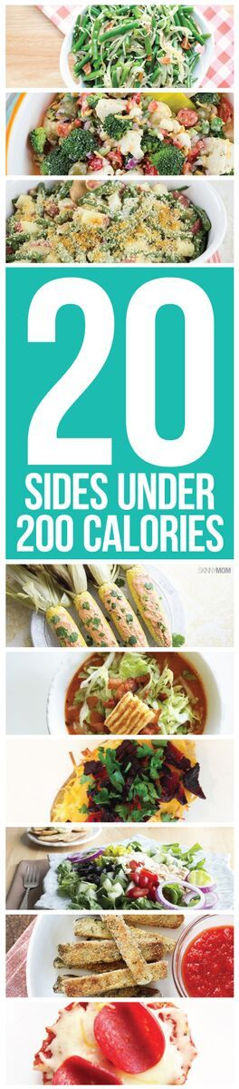 20 side dishes under 200 calories.