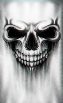a skull tattoo drawing tutorial