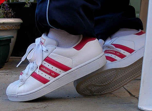 Old school red stripe Adidas