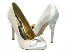 "CH Badgley Mischka ""Forever Yours"" Satin Crystal Bridal Shoes"