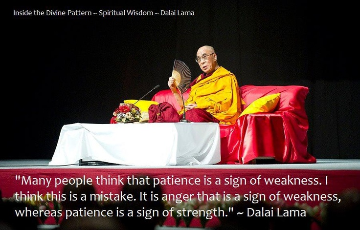 Patience is something that needs to be mastered
