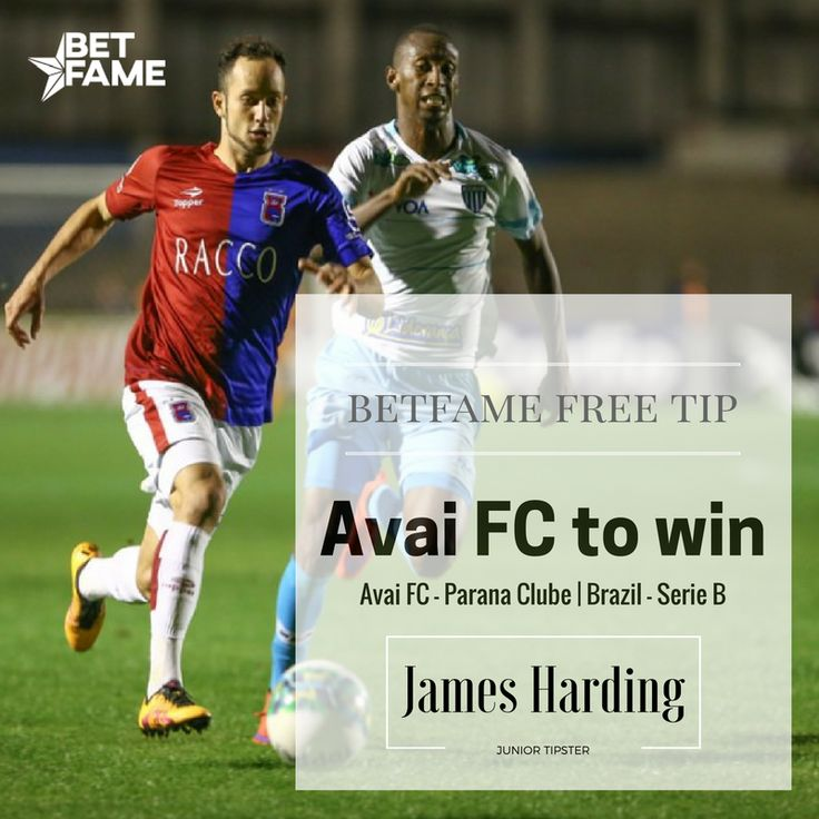 BetFame free soccer tips, contributed by James Harding. Avai FC - Parana Clube, Avai FC to win at odds 1.80. Details