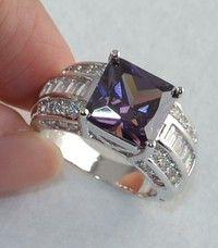 Wish | Noble Women Amethyst Gemstones 925 Sterling Silver Ring