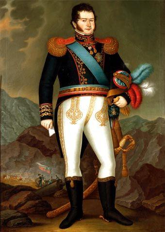 Biografia de Bernardo O'Higgins  Bernardo O'Higgins (retrato de José Gil de Castro, 1820)