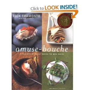 Amuse-Bouche: Little Bites Of Delight Before the Meal Begins.  Favorite recipe:  Angel hair and artichoke frittata