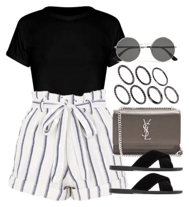 """""""Sin título #13043"""" by vany-alvarado ❤ liked on Polyvore featuring Topshop, Yves Saint Laurent, Ancient Greek Sandals and Pieces"""