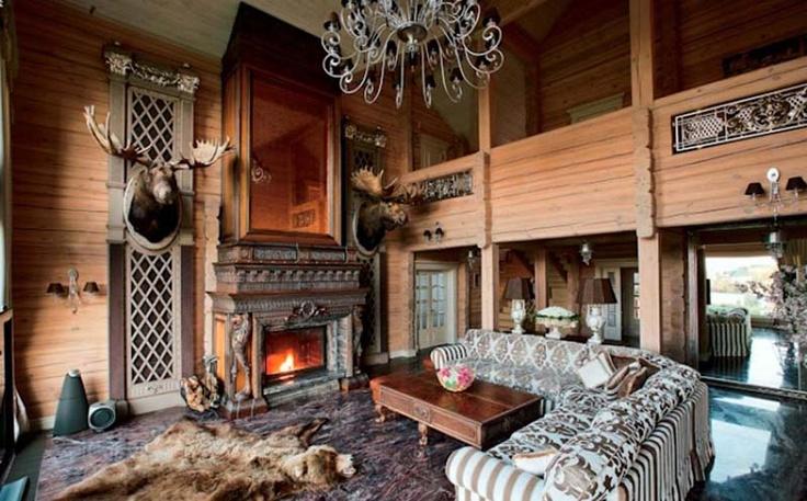 hunting bedroom | Italian Wood Hunting Villa Fan by Vsevolod Sosenkin » Russian Wooden ...