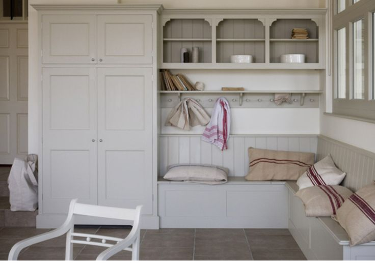 Good storage and bench idea is lovely with cushions