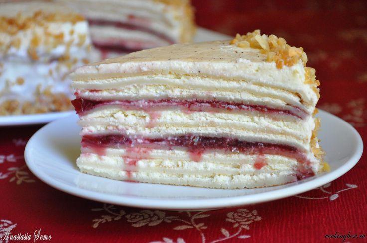 Творожный блинный пирог рецепт
