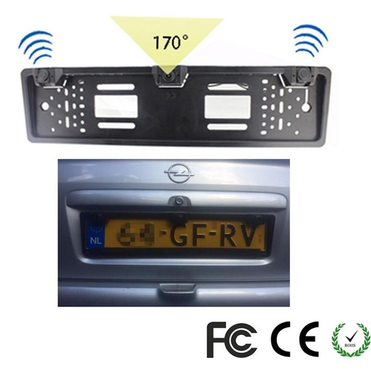 1 European License Plate Frame + 1 Car Rear View Camera + 2 Parking