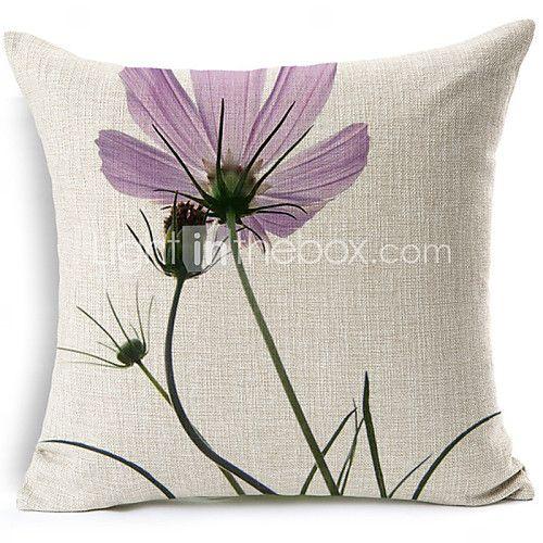Cotton/Linen Pillow Cover , Floral Modern/Contemporary 2017 - $30.59