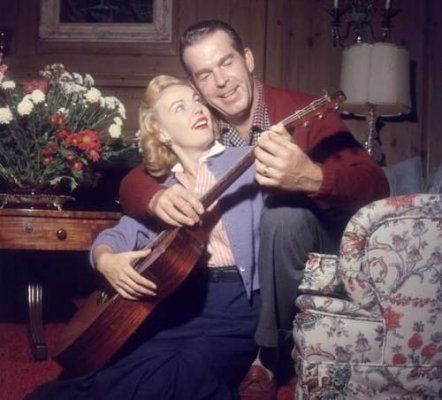 June Haver (1926-2005) and Fred MacMurray (1908-1991) who were married for 37 years, from 1954 until MacMurray's death
