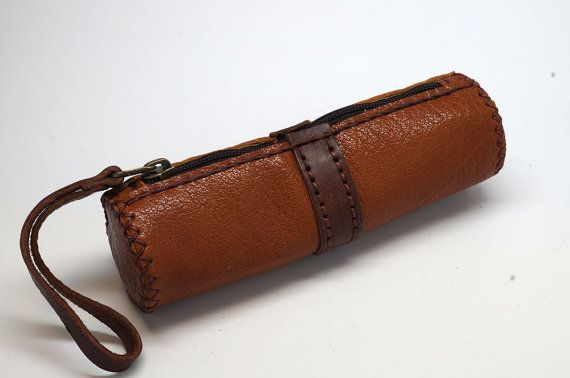 Leather pen case pencil boxMinimalist leather by sashaleather