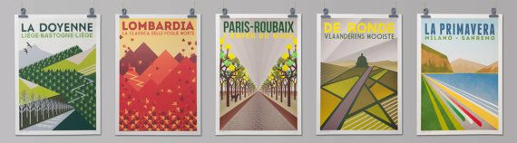 Cycling Art Prints Full Set  'Monument One by TheHandmadeCyclist, £50.00