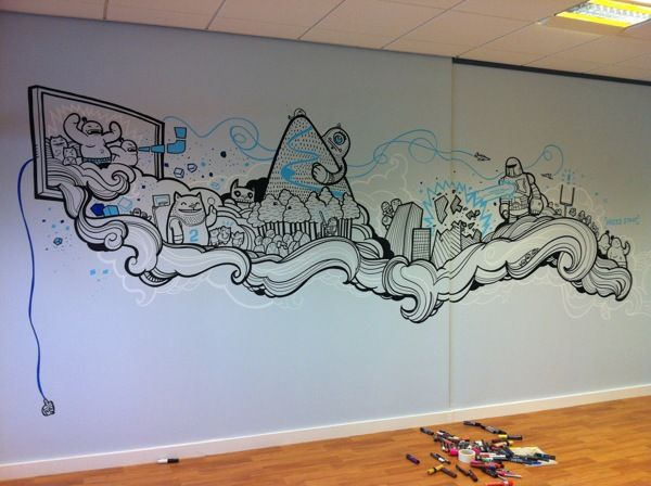 Sumo Digital Office Murals On Behance