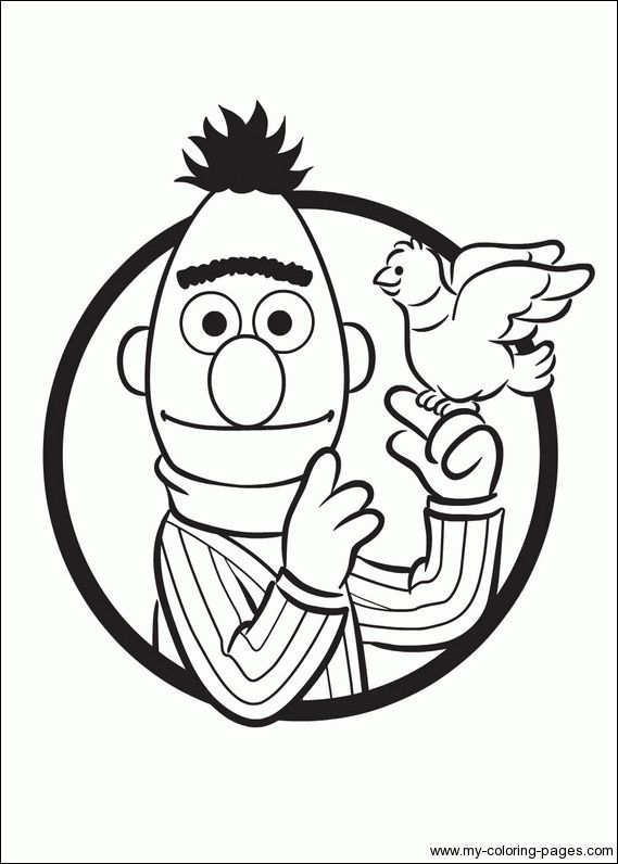 Ernie Amp Bert Coloring Pages Geekery I Like Pinterest