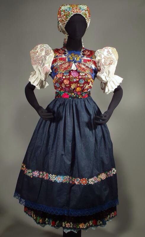 woman's folk costume from the village of Jarabina in the Spis region of Slovakia