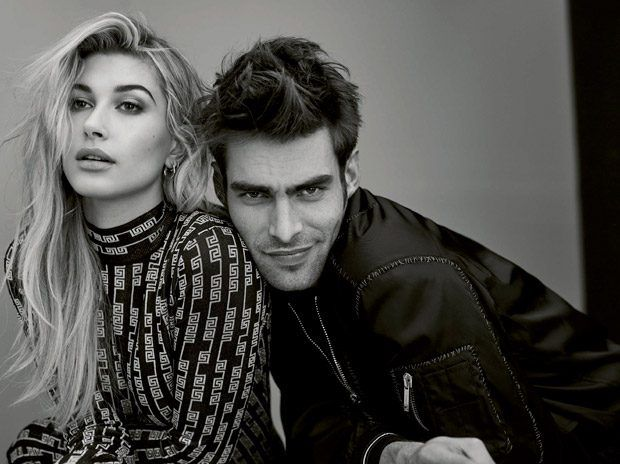 Jon Kortajarena and Hailey Baldwin Star in Bazaar Spain January 2017 Cover Story