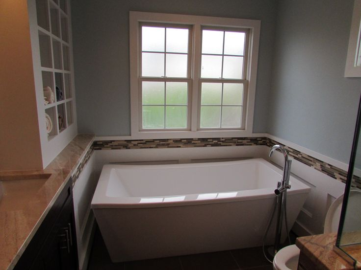 Bathroom Remodel With Towel Cubbies Close To The Tub. Nice.