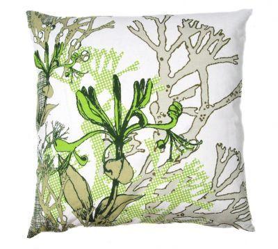 Mairo Myrten cushion cover in green. Designed by Anna Backlund.