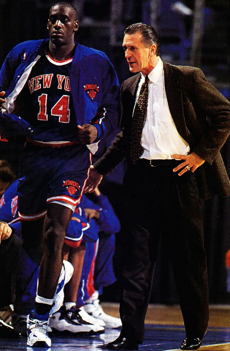 At my signal, unleash hell. Anthony Mason, Pat Riley, New York Knicks.