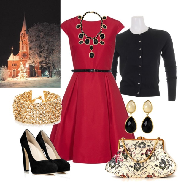 """Church Christmas outfit #2"" by elizabethdawes on Polyvore"