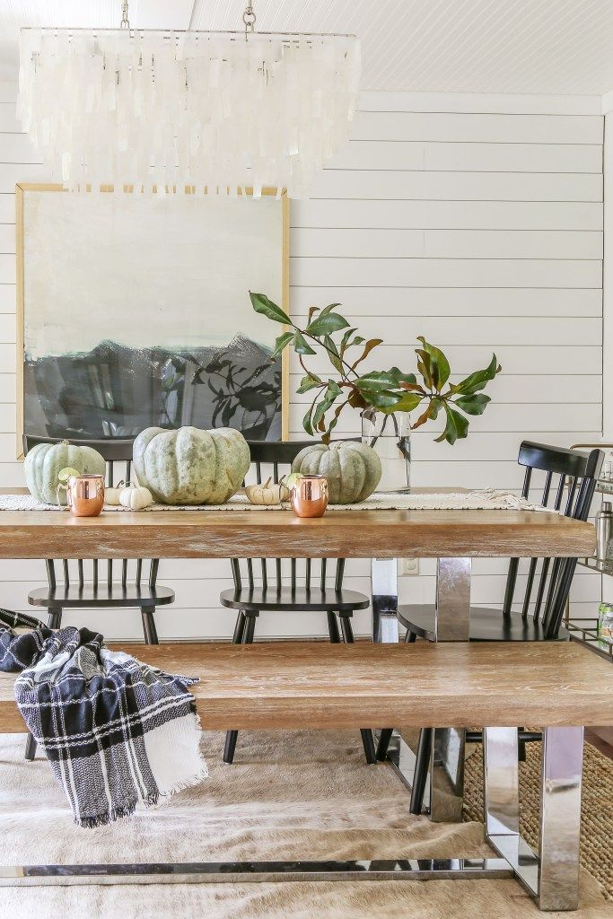 Affordable Modern Farmhouse Fall Decorating Designing Vibes Fall Tour Fall Dining Room Farmhouse Dining Rooms Decor Dining Room Decor
