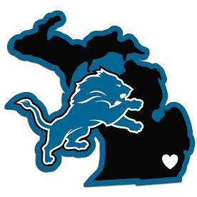 Home State Decal Detroit Lions - 46821