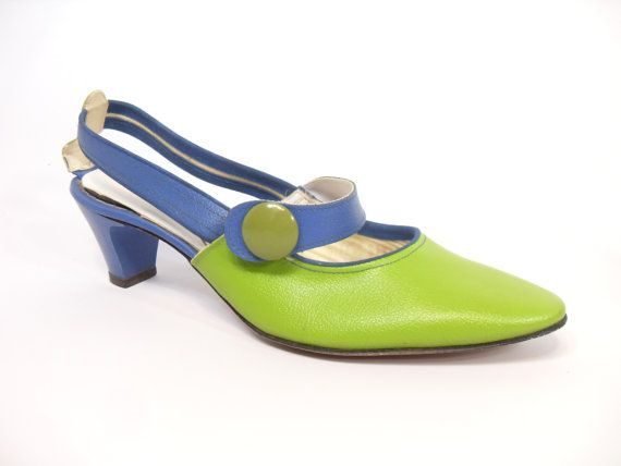 Retro Mod Size 5.5 Pumps Sears Fashions Shoes Lime by InsOddsOuts