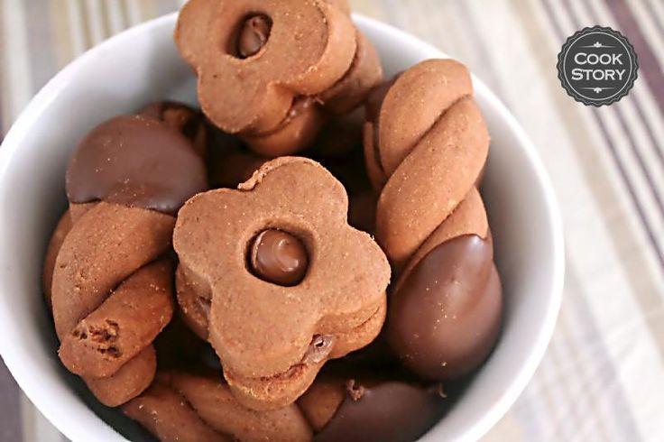 Σοκολατένια μπισκότα με επικάλυψη κουβερτούρας