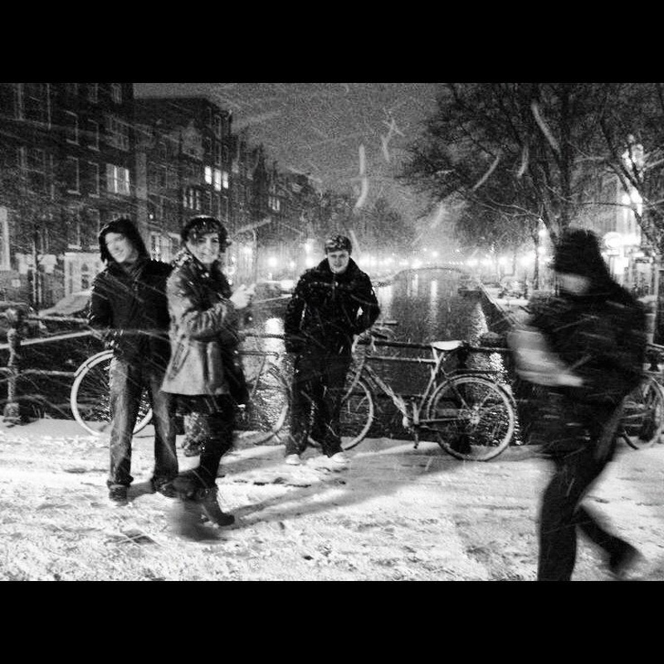 #amsterdam #snow #photography #people #bike #bridge