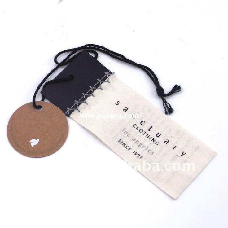 Printed Cotton Cloth Hang Tag