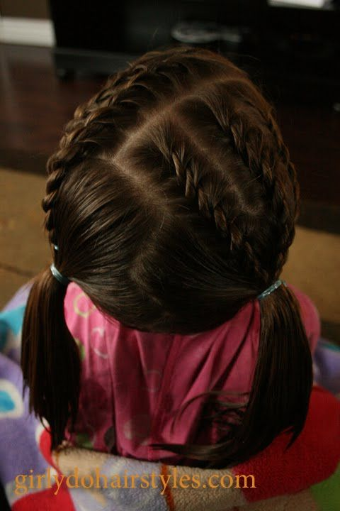 Girly Do Hairstyles: By Jenn: Short Hair Braids & Piggies