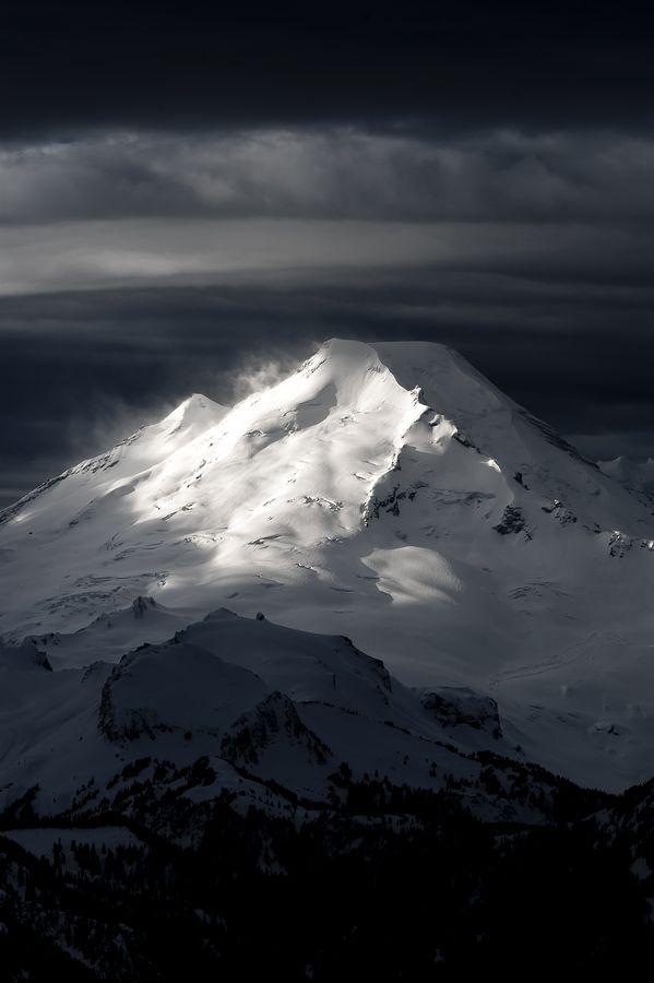 Mount Baker (glaciated volcano), North Cascades National Park, Washington.  Photo: Jason Hummel via 500px