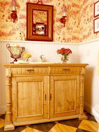 DIY Vanity From DresserPowder Room, Diy Bathroom, Bathroom Vanities, Bathroom Remodeling, Bathroom Ideas, Bathroom Sinks, Bathroom Decor, Bathroom Projects, Master Bathroom