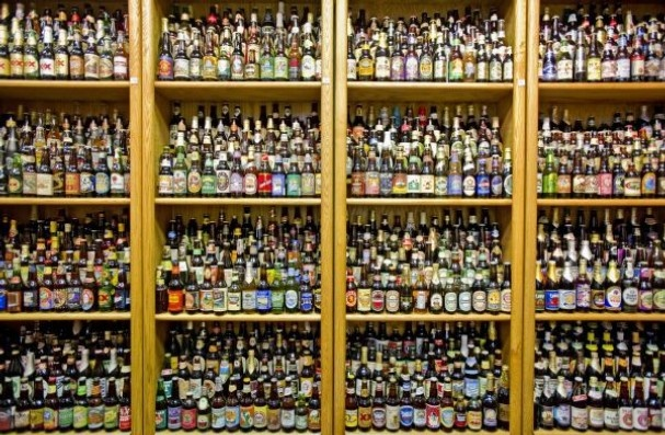 Now that is a beer bottle collection!