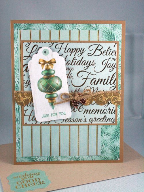 Christmas Wishes papers from Kaiser Craft - Designed by Cindy Major