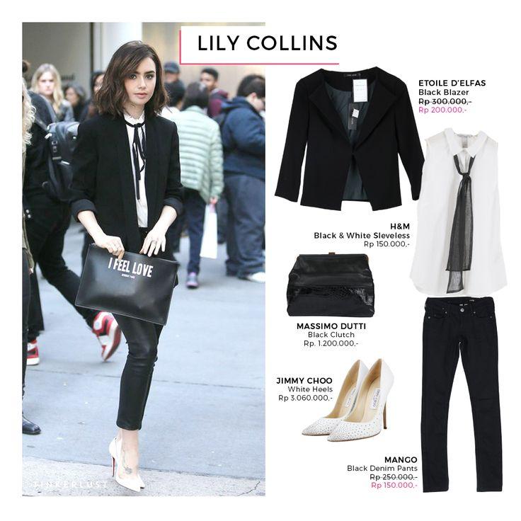 Who doesn't know Lily Collins? Mungkin badanya terlihat sangat mungil, namun untuk keahliannya di perfilman tidak diragukan lagi. Stylenya saat sedang hangout pun juga terlihat sangat stylish. Let's copy her look Ladies!😍
