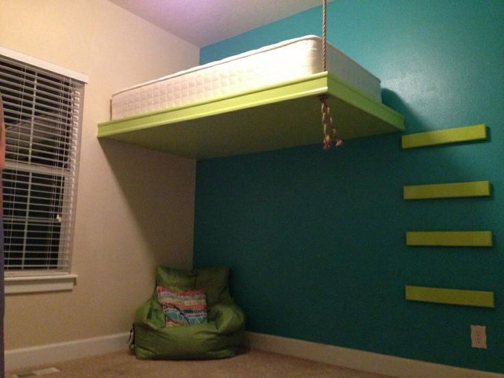 How To Suspended Loft Bed Google Search Kids Decorating Pinterest Room And