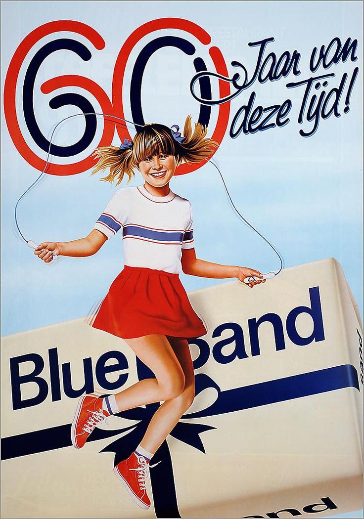 '60 Jaar van deze tijd! Blue Band' 1983-1984 #Affiche #Reclame #Advertentie