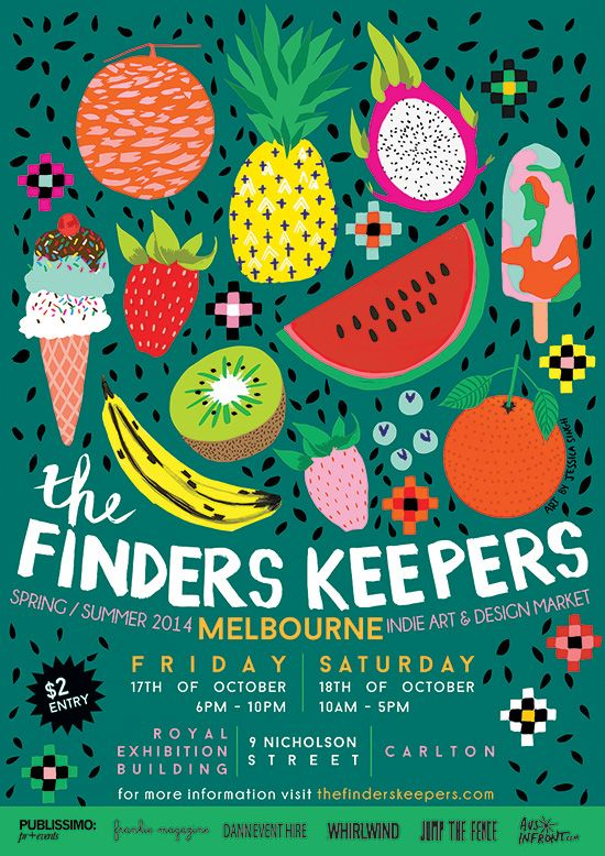 The Finders Keepers | Melbourne SS14 Markets | artwork by Jessica Singh Illustration