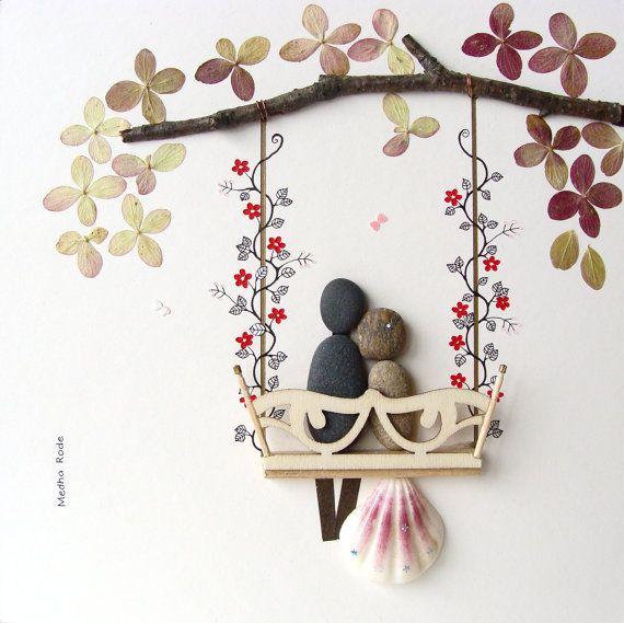 Unique WEDDING Gift-Customized Wedding Gift- Pebble Art by MedhaRode