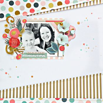 #papercraft #scrapbook #layout. My Creative Scrapbook July Main Kit created by guest designer Stephanie Buice.