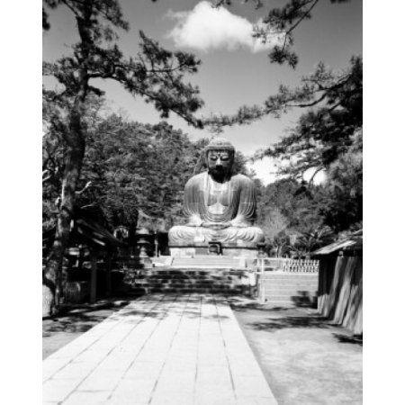 Japan Kanagawa Prefecture Kamakura Budda statue Canvas Art - (18 x 24)
