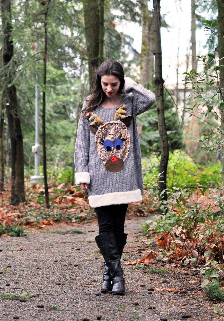 DIY Christmas Sweater + Value Village | Christmas sweaters ...