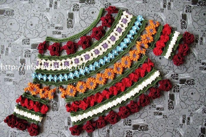 Оригинальный свитерок из цветочных мотитвов | Ниточка