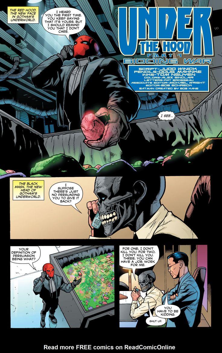 Red hood in Batman Under the Red Hood