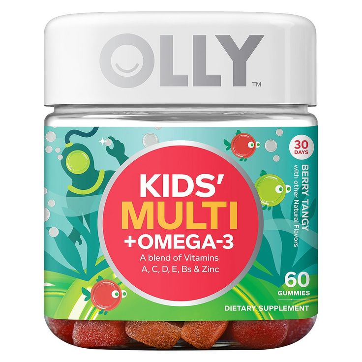 Olly Kids Multivitamins Omega-3 Berry Tangy Gummies - 60ct